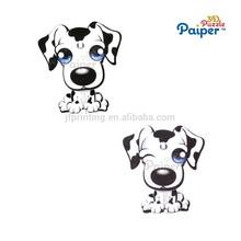 Gift promotion diy toys set animal 3d dog model