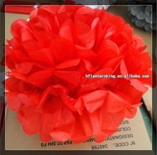 Red pom pom wholesale decoration wedding