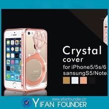 Star ring diamond bling mobile phone case for iphone 6