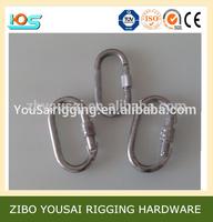 Galvanized safety Karabiner with screw lock