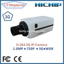 Hichip 720P Network 3G Wireless CCTV Camera with sim card storage, support alarm