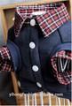 El otoño y el invierno ropa para perros mascotas super caballero ~t suéter camisa falsa dos cachorros schnauzer de peluche ropa