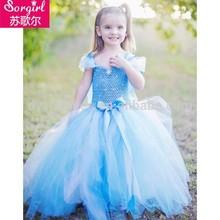 Wholesale frozen elsa dress kids fancy dresses for girls of 10 years old, frozen