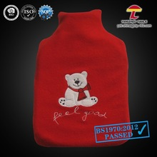 2000ml good sell item beers fleece cover rubber hot water bag
