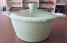 Hot sale newly design casserole ceramic coating soup pot 3D design cooking pot