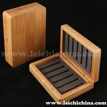 100% waterproof bamboo wooden fly fishing box