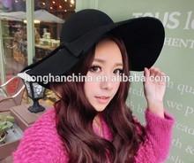 Women wide brim faux wool felt hat wide brim hat