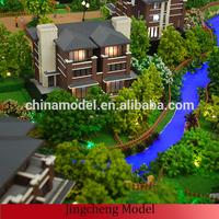 factory making architecturing villa model