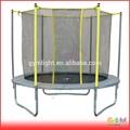 8 piedi grigio imbottitura trampolino con dentro net e schiuma gialla