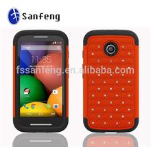 Shiny Diamond Cover Skin For Motorola Moto E/XT1021/XT1024 Mobile phone cases covers