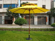Frances Polyester 2.7M wood sun garden parasol for swimming pools parasols base