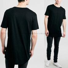 black extended cotton man custom new design el t-shirt