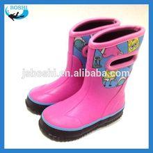 new arrival camo neoprene rain boots for kids Neoprene lining rubber shoes for children