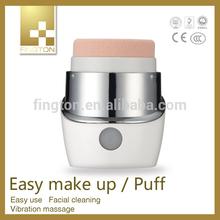 Electric Vibration Rotaring Powder Puff Make Up Puff