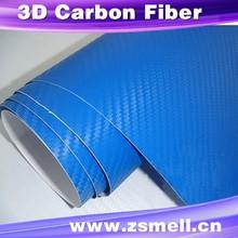blue carbon 3d vinyl car carbon fiber vinyl factory whole sale price