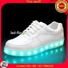 Led Shoelaces 2012 Factory led luminous shoes for dancer