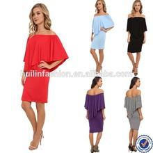Off shoulder designer replica dresses/wholesale clothing new yoke sexy women summer dress 2015