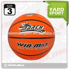Winmax official size weight size 3 basketball balls,custom rubber basketball ball