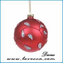 Blown Glass ball Christmas Ornament,christmas tree with small ball ornament