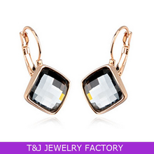 TJ 2015 elegant big crystal vintage drop earrings