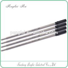 Eco-friendly 5 middle rings advertisment ball pen refill gross pen refill for Office/School