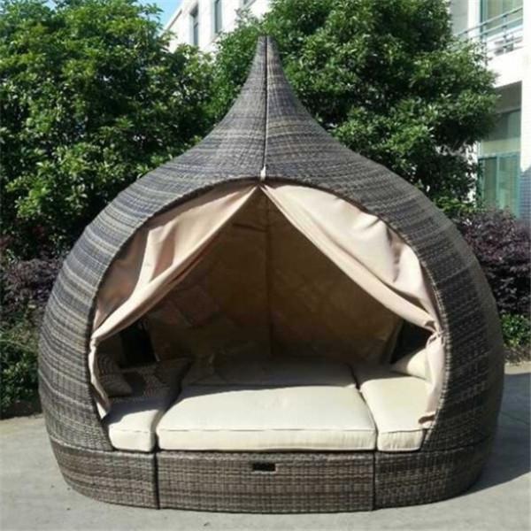 2015 핫- 판매 고리 버들 세공 옥외 침대 디자인 가구-정원 세트 ...