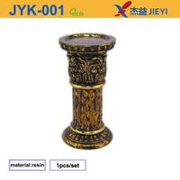 Brass deepam and copper cups, box glass lanterns