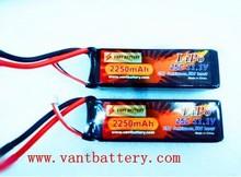 25C high rate lipo battery 3.7V/7.4V/11.1V 2250mah rc helicopter battery pack