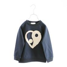 R&H heart print long Sleeve OEM new fashion cotton children round neck t-shirt
