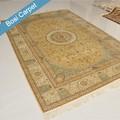 6'x9' nueva mano- hecho handknotted alfombra de seda de la oficina comercial de alfombras azulejos