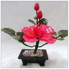 Jade Rose color Peony 1 Flowers ,fengshui jade money tree