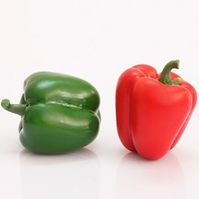 Artificial Vegetable Realistic Red Bell Pepper for home decoration/Yiwu sanqi craft factory