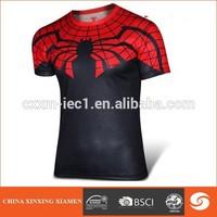 High quality 3d t shirt;wholesale custom t shirt printing, spider man t shirt