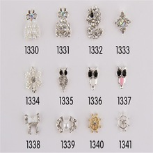 Whosesale New Style Metal Nail Decals Charming Alloy Nail Art Sticker Jewelry