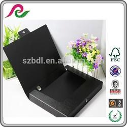 durable A4/FC file folder PVC cover file boxs on custom printed