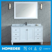 Solid Wood Antique White Cabinet furniture For Bathrooms