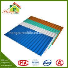 Exclusive design Anti-Uv corrugated plastic roof panels