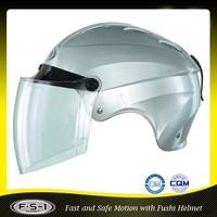 Silver good quality ABS vintage half helmet 906