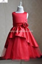2015 Dazzlingly beautiful wedding girl dresses,brilliant red ready sale girls dresses,flower dresses for beautiful girls