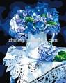 熱い販売の花瓶の花の卸売手作りdiyの油絵