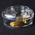 personalizado gravura de cristal caixa de música carousel