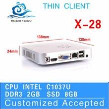 factory OEM fan desktop thin client x-28 1037u networking 2g ram 8g ssd linux all-powerful market displaying tv box