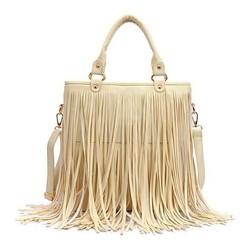 European Style New Lady Girl Women Synthetic Leather Tassel HandBag For Teenage SV013738