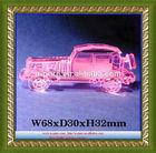Wholesale custom made pink crystal car Model,Personalize crystal car model
