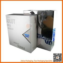 wine packaging cardboard 4 pack bottle wine carriers