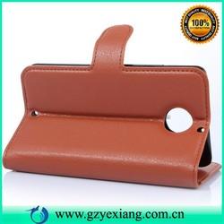 PU lichee stand flip leather case for motorola moto x+1