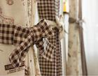 Linen cotton fabric dyed plaid