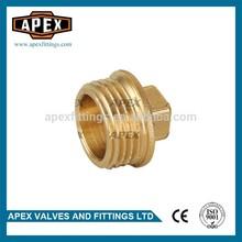 APEX Brass Hexagon Plumbing Fittings Plug