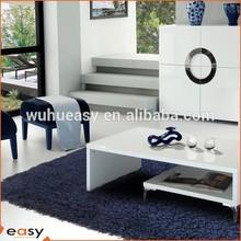 Table underlayment handmade carpet rug in plain colors