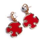 cheap jewelry red dangle earrings 2015